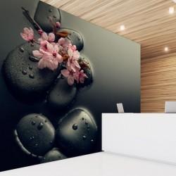Mural de pared piedras negras