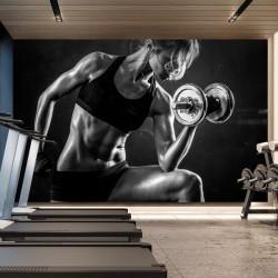Fotomural mujer deportista