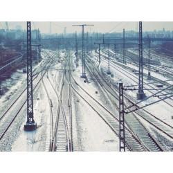 Fotomural con vías del tren