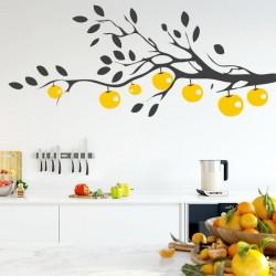Adhesivo árbol con fruto