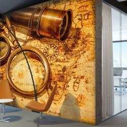 Mural en vinilo mapa mundo