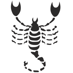 Adhesivo signo escorpio