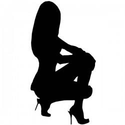 Silueta de mujer sexy