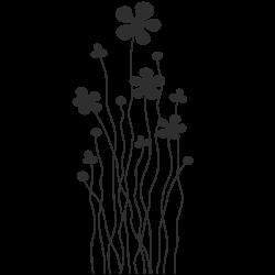 Vinilo perchero floral
