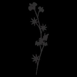 Pegatina flor japonesa