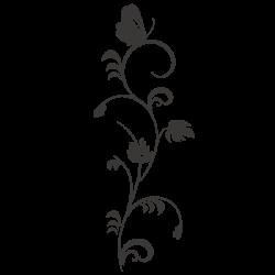 Vinilo flor y mariposa