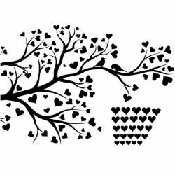 Vinilo árboles con corazones