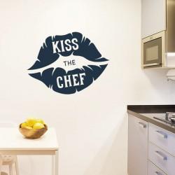 Pegatina besa la chef