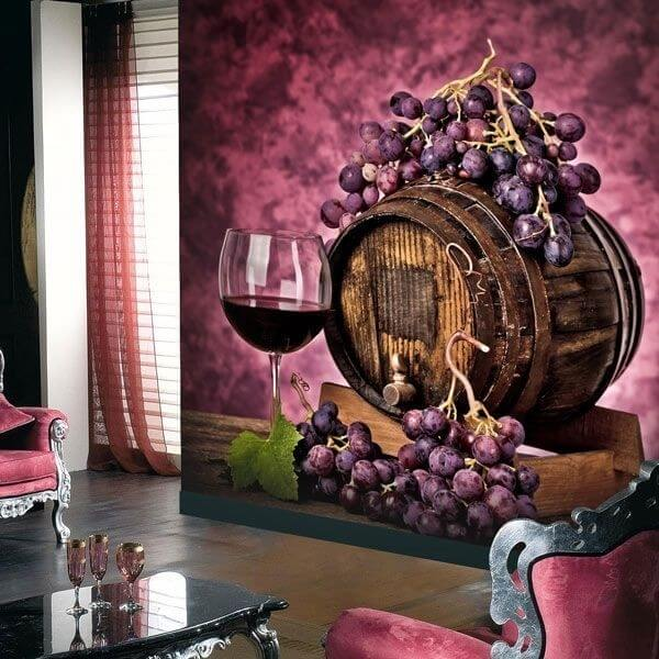 Fotomural barrica de vino