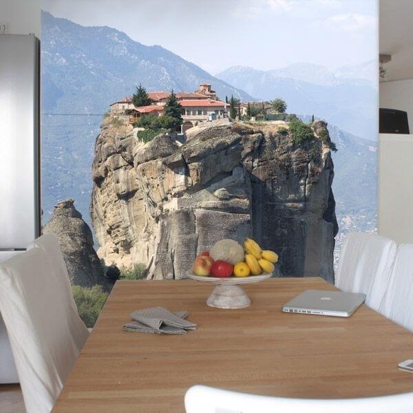 Fotomural casa en la roca