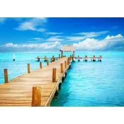 Fotomural puente madera 4