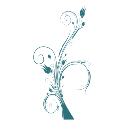 Vinilo adhesivo de flores1