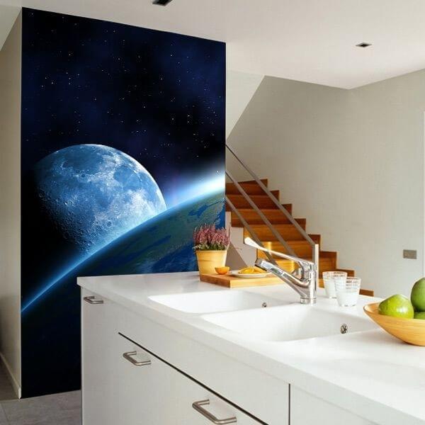 Mural en vinilo espacio