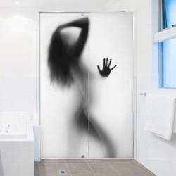 Vinilo mujer en la ducha