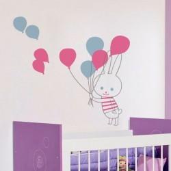 Vinilo infantil conejo con...