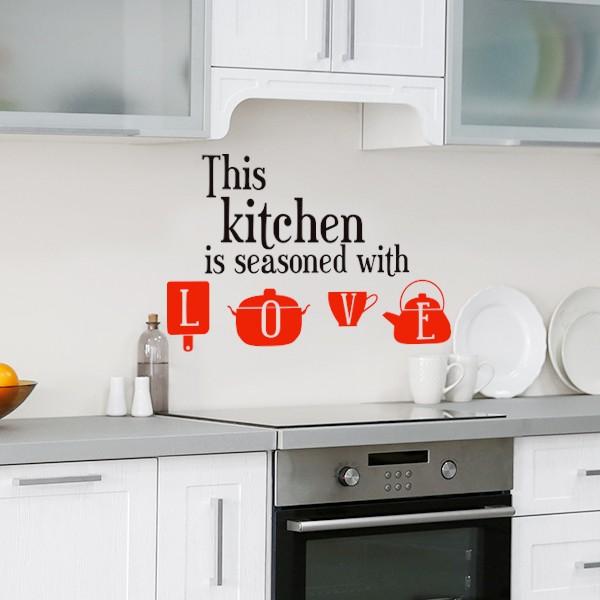 Vinilo this kitchen, Love
