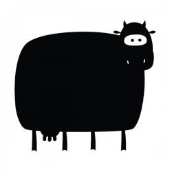 Vinilo de vaca pizarra