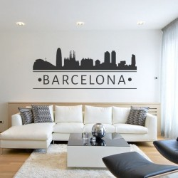 Vinilo skyline Barcelona