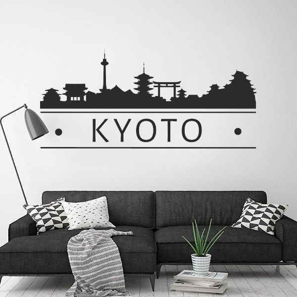 Vinilo decorativo skyline Kyoto
