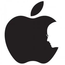 Vinilo pizarra manzana Steve Jobs