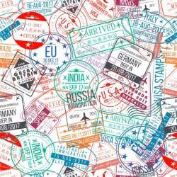 Vinilo mesa sellos de ciudades