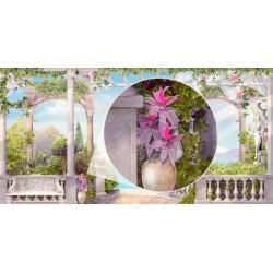 Fotomural terraza con jardín