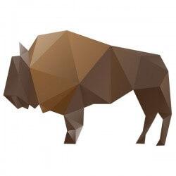 Vinilo decorativo de búfalo