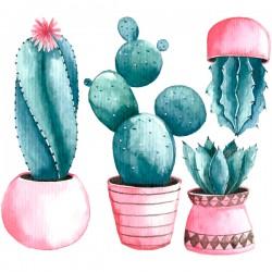 Vinilo cactus vintage