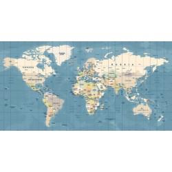 Fotomural mapamundi retro