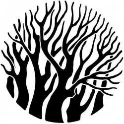 Vinilo árboles en círculo