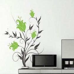 Vinilo floral azucenas