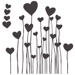 Vinilo infantil corazones 3