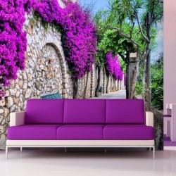 Fotomural pared con flores