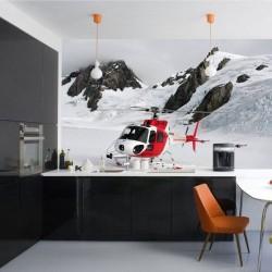 Mural decorativo helicóptero