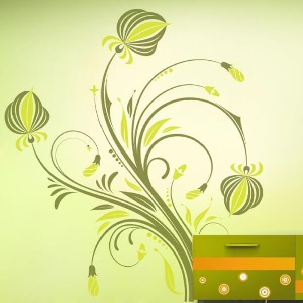 Vinilo decorativo de flores 5