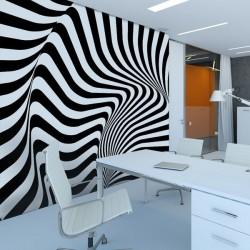 Mural decorativo rayas 3D