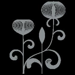 Vinilo decorativo floral 6