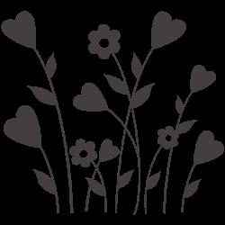 Vinilo de flores y corazones