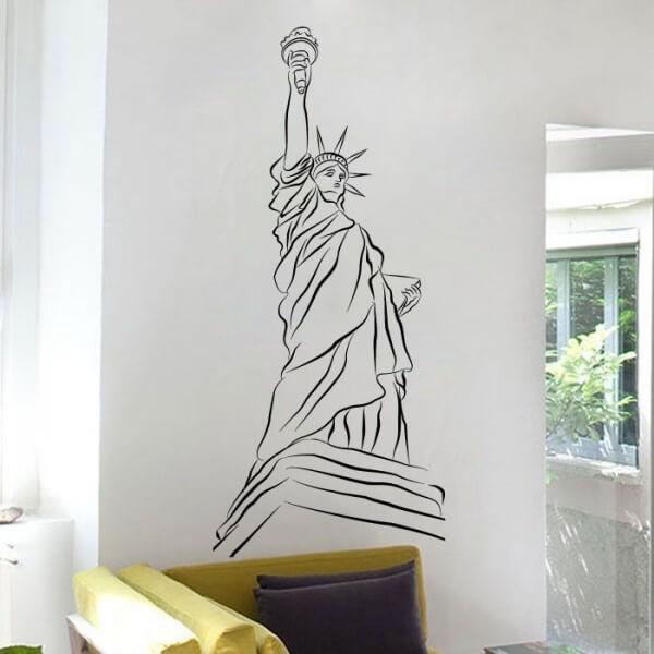 Adhesivo Estatua de la Libertad 1