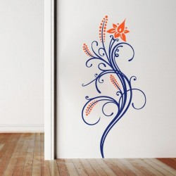 Adhesivo de pared floral 5