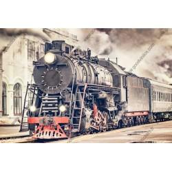 Fotomural tren vintage