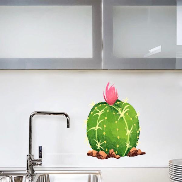 Vinilo cactus echinocactus grusonii