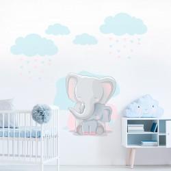 Vinilo elefantes infantiles