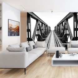 Fotomural puente en blanco negro