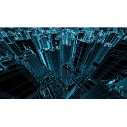Fotomural edificios 3D