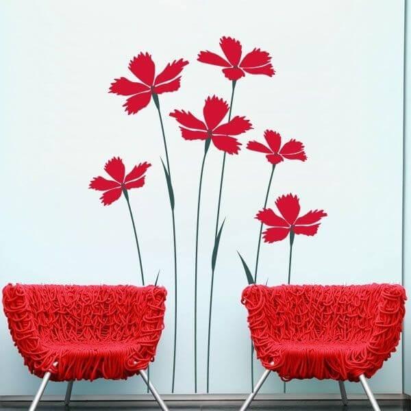 Vinilo decorativo floral 10