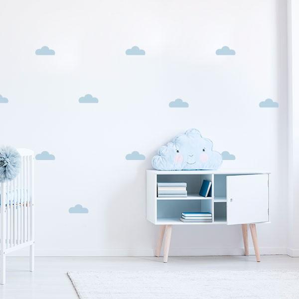 Mini pegatinas de nubes