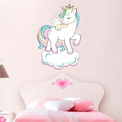Vinilo Unicornio con nube
