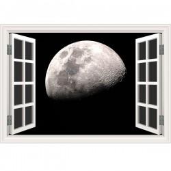 Vinilo ventana falsa Luna