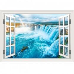 Vinilo ventana cataratas Iguazú